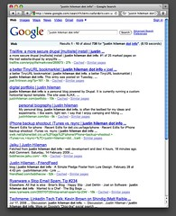 "Google Search for ""justin hileman dot info"" 