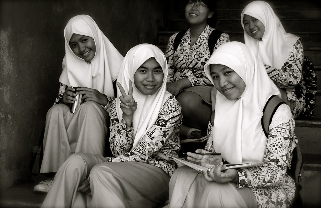Wonderful Students In Yogyakarta, Java