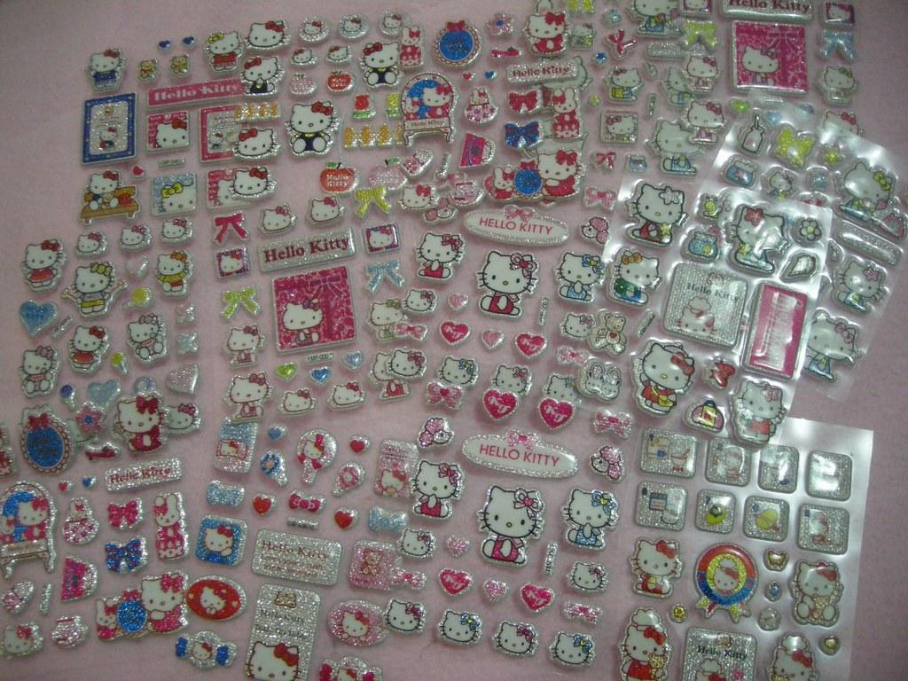 Hello Kitty Glitter Stickers Giveaways Phatm0mma Flickr