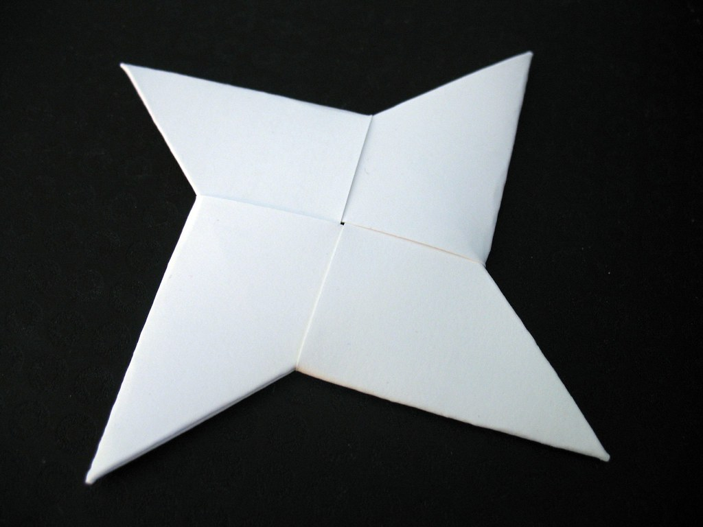 Ninja throwing star four card simple business card modular flickr ninja throwing star by malachus ninja throwing star by malachus jeuxipadfo Gallery