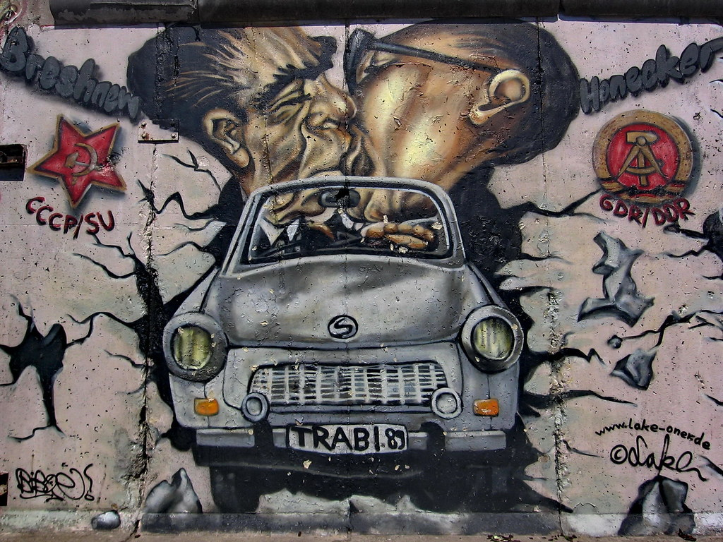 Wonderful ... Berlin Wall Art Trabant | By Vlastula