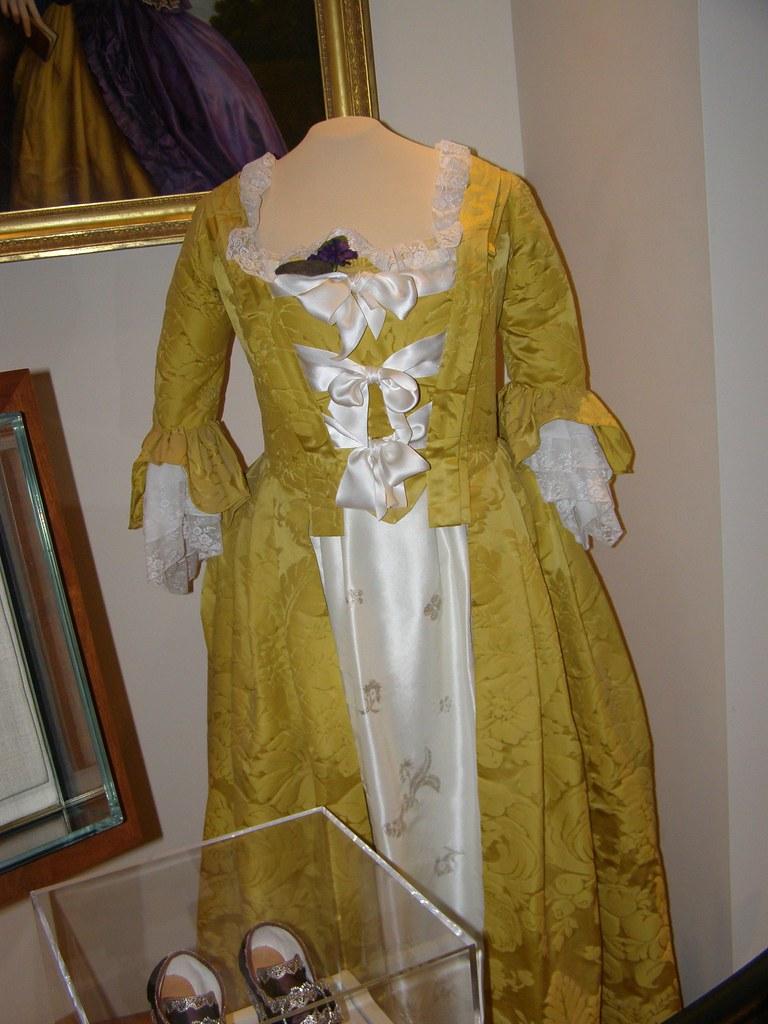 Martha Washington\'s Wedding Dress | On display at Mount Vern… | Flickr