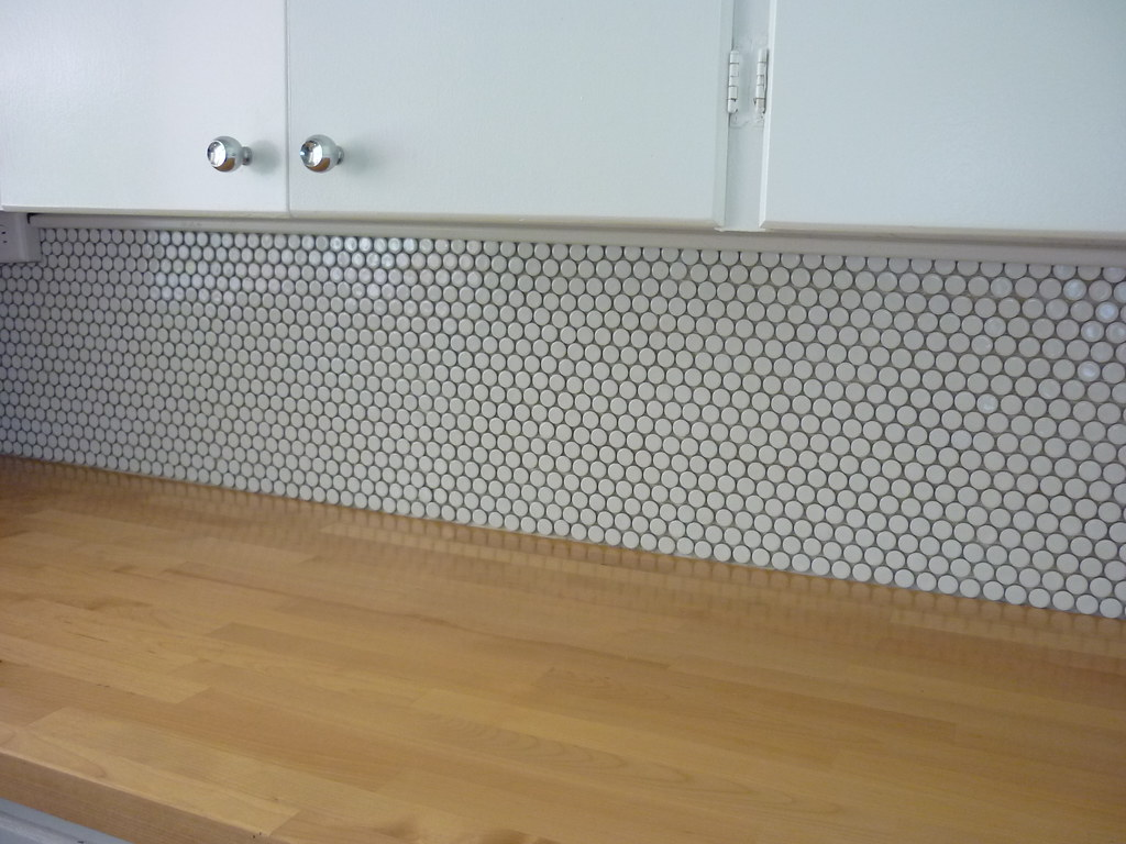 kitchen backsplash pre-grout | grouting next. kitchen before… | Flickr