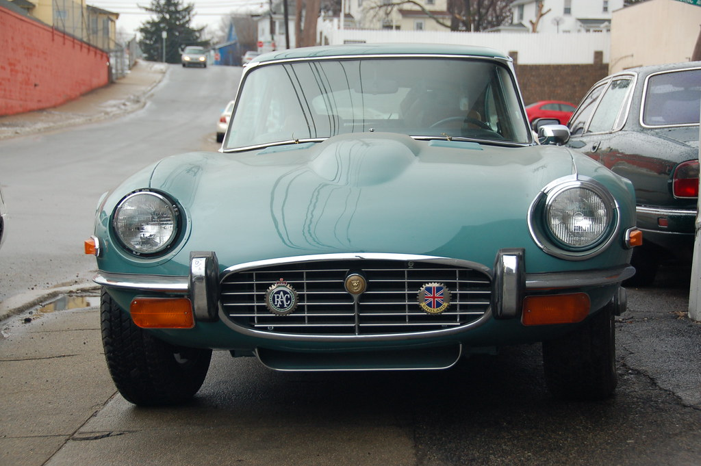 Old Jaguar E Type Sports Car Front View Close Funny Sto Flickr