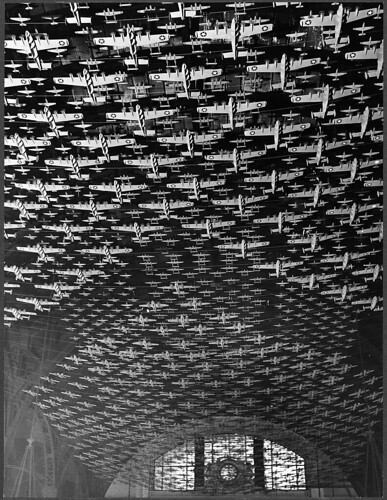 Chicago, Illinois. Model airplanes decorate the ceiling of the train concourses at Union Station (LOC) | by The Library of Congress