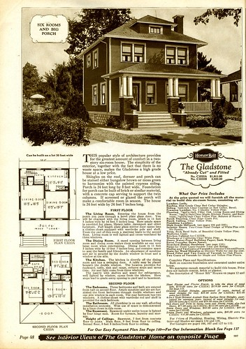 Sears foursquare the gladstone the gladstone exterior for American house plans free
