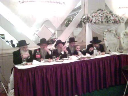 Rabbinical dais, wedding, Brooklyn