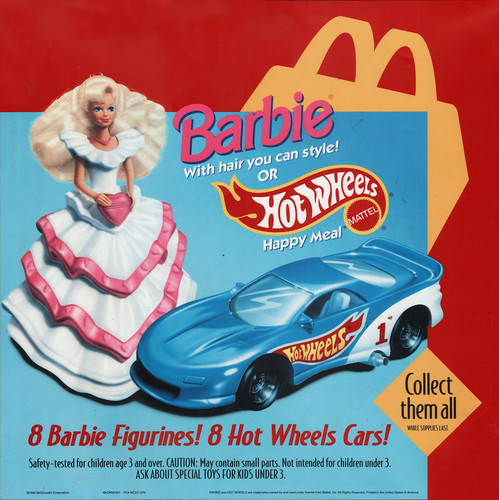 Mcdonalds Mattel Barbie Hot Wheels Happy Meal Translite
