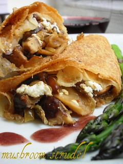 mushroom and goat cheese strudel | by awhiskandaspoon