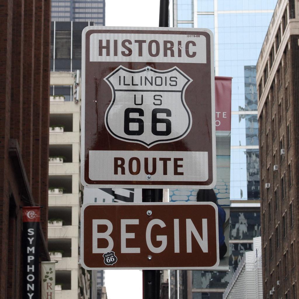 begin   historic route 66 east adams street chicago, illinoi…   flickr