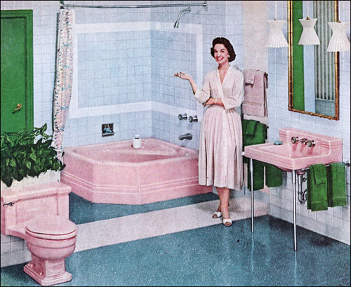 1957 american standard bathroom source american home for Bathroom design 1930 s home