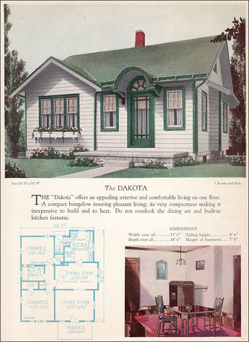 1928 cottage plan for more home builders catalog plans Home building blog