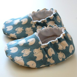 Hip hippos baby booties | by Jennifer Ladd handmade