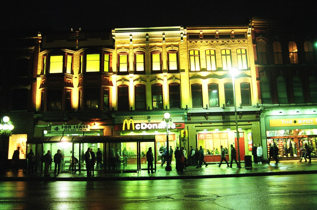 high contrast rideau street mcdonald s film shot this is flickr