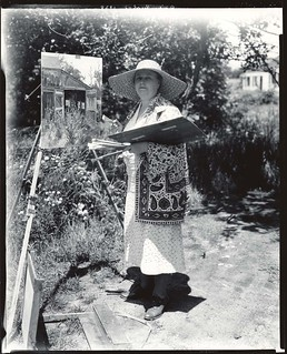 Daisy Marguerite Hughes, American painter and printmaker, 1883-1968, at work outdoors | by Smithsonian Institution