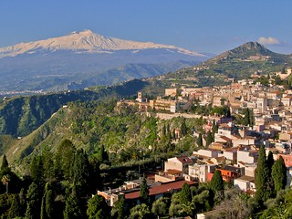 Taormina and Mt. Etna in Sicily | by joe.routon