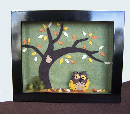 Feltscape #5 - Fall landscape with owl | by HibouDesigns