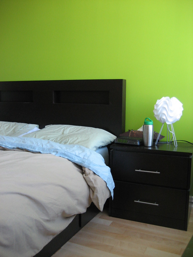 lime green bedroom.  Our lime green wall in our bedroom by comicpie main we d Flickr