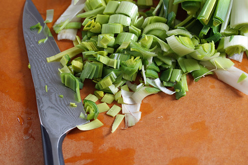 sliced leeks | by David Lebovitz