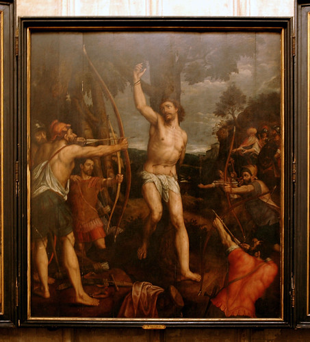 Mechelen, Flanders, Cathedral of St. Rombout, martyrdom of St. Sebastian by Coxie, center panel | by groenling