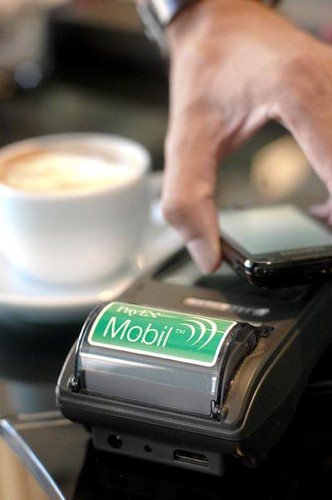 The PayEx Mobil system lets shoppers pay via their phones. | by Cisco Pics