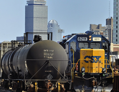 CSX train in the Allston rail yard | by mkrigsman