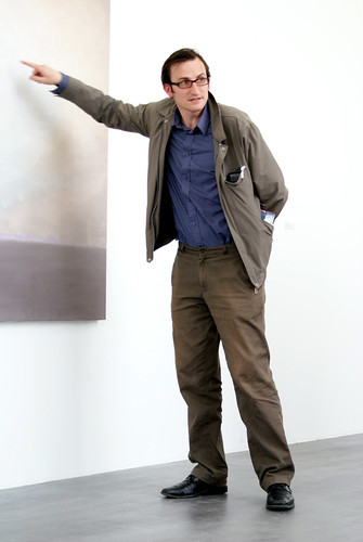 Vincent Geyskens in front of Luc Tuymans' Sundown (2009) | by Marc Wathieu