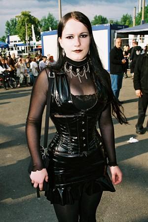 Girl In Pvc Taken At The Wave Gotik Treffen Festival