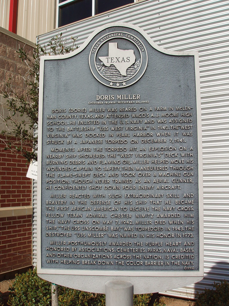 Image result for doris Miller plaque Waco Tx