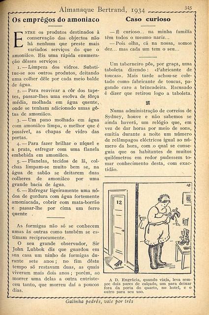 Almanaque Bertrand, 1934 - 59
