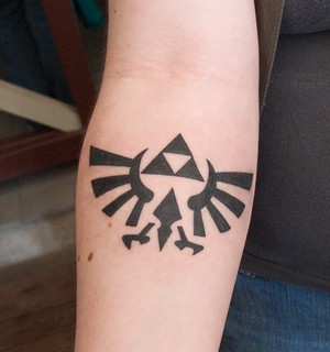 Awesome 1 day old Zelda Tri-Force Tattoo | by John Biehler