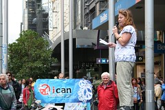 Jessica Morrison from MAPW addressing Palm Sunday rally | by John Englart (Takver)