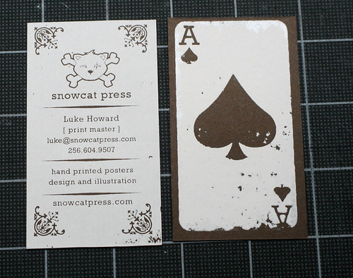new business cards | by LukeHoward