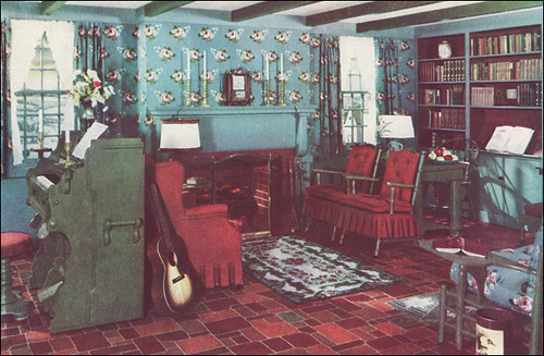 1941 Armstrong Linoleum Living Room This Modern