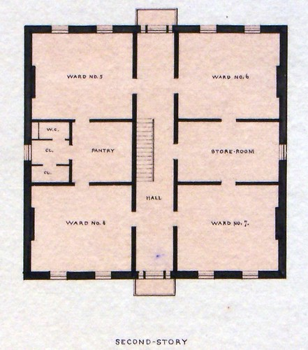 Governor's Island, NY Old Post Hospital Second Floor Plan