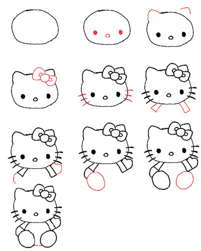 how to draw hello kitty amy b flickr