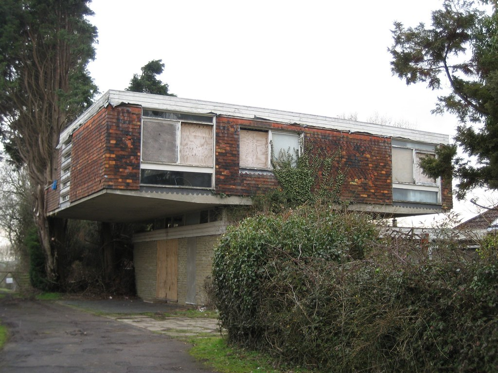 The House on Stilts Appledore Kent Abandoned modern house Flickr