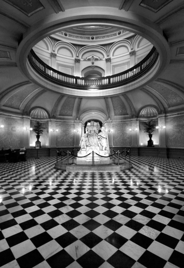 checkered floor in bxw view on black sacramento capitol bu flickr