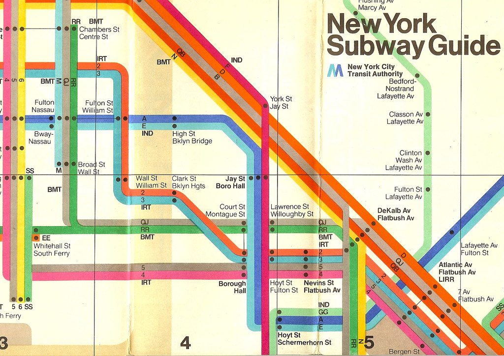new york subway map 1970s by gavin humphries