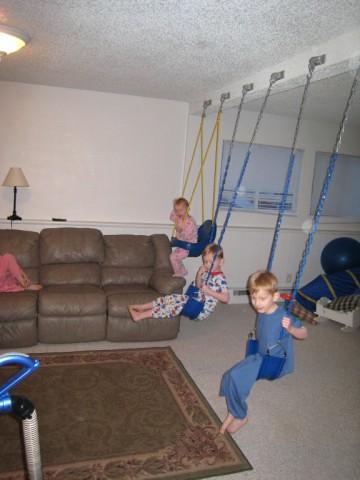 Indoor Swing Set Rebecca S Great Idea To Install Swing Set Flickr