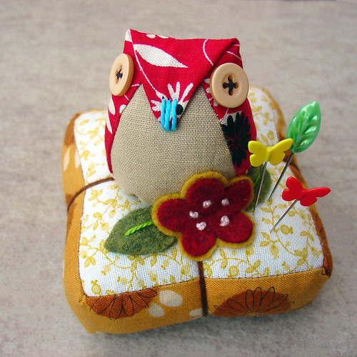 Oh, you know you want it - owl pincushion. | by boxsquare.