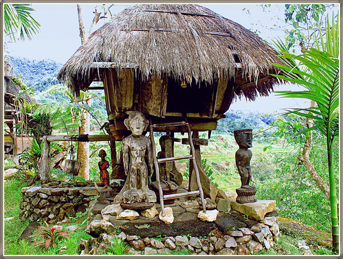 Typical Ifugao Hut This Hut Is A Display In A Mini