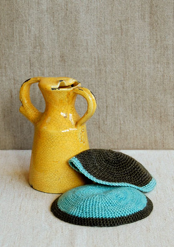 Whit's Knits:  Crocheted Passover Yarmulke | by the purl bee
