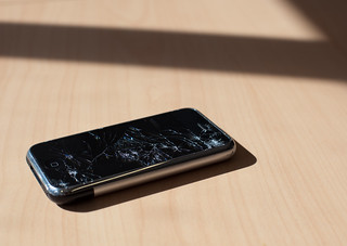 iPhone that fell off a bike | by Lars Plougmann