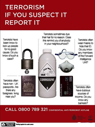 Terrorism. If you suspect it, report it. | by Teacher Dude's BBQ