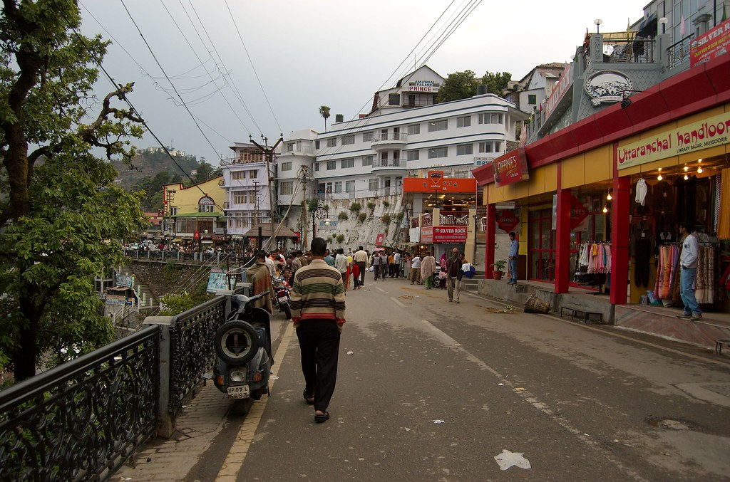 Image result for Mall Road in Mussoorie