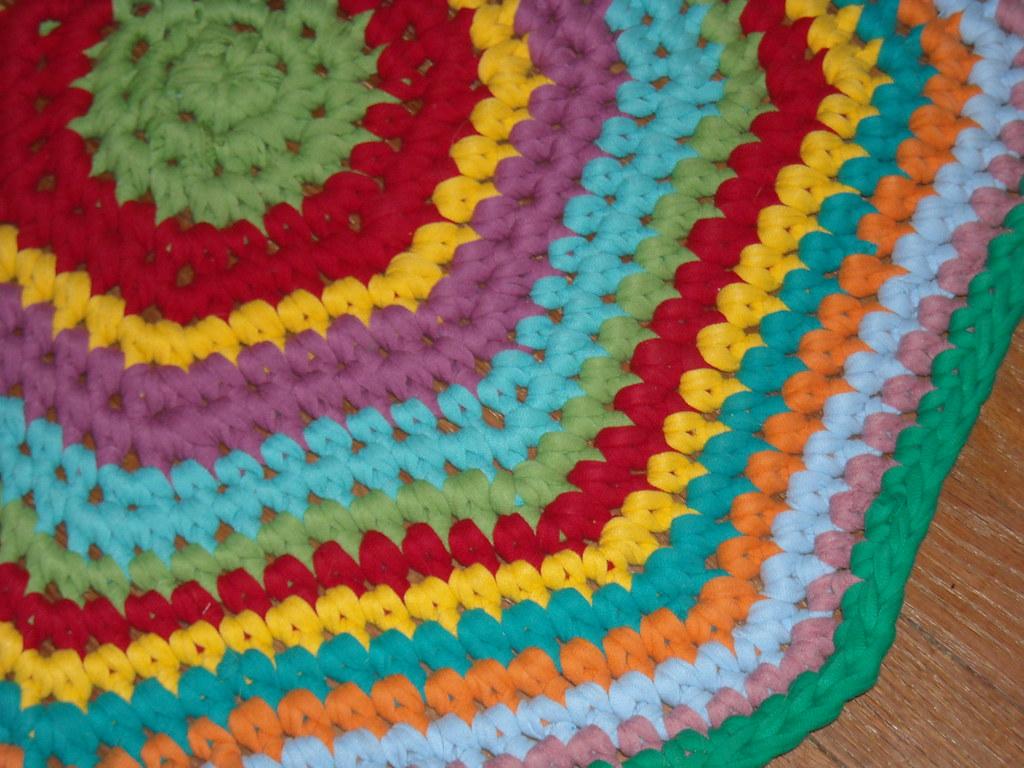 Crochet Tshirt Rug Blogged Adaiha Covington Flickr