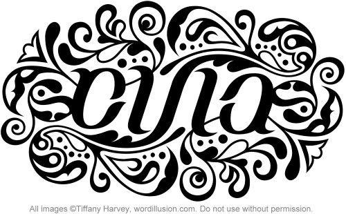 Ambigram Russian For Strength A Custom Ambigram Flickr
