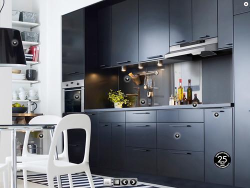 Ikea Kitchen Black ikea kitchen   applÅd cabinet doors   anna @ d16   flickr