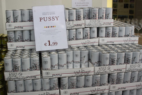 """Pussy"" Energy Drink - Eataly, Turin 